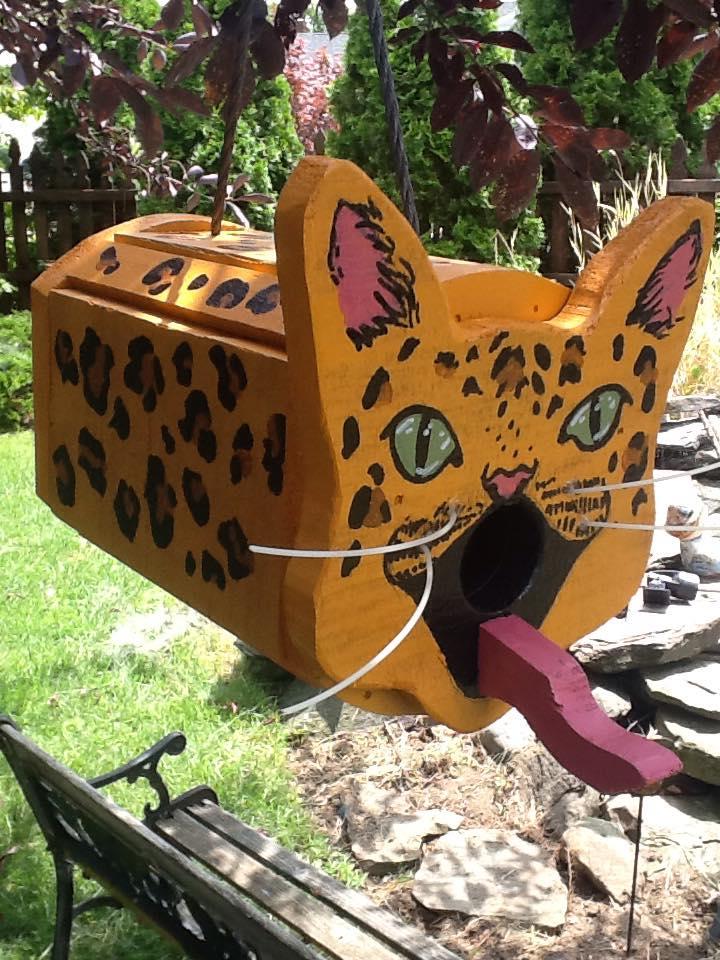 Leopard Birdhouse