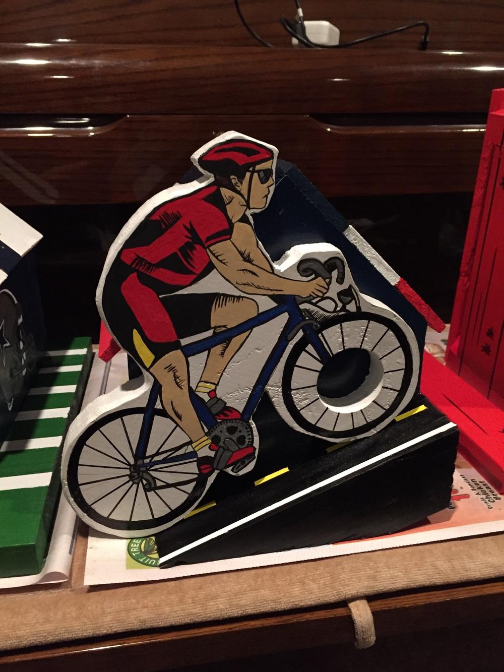 Bicyclist birdhouse
