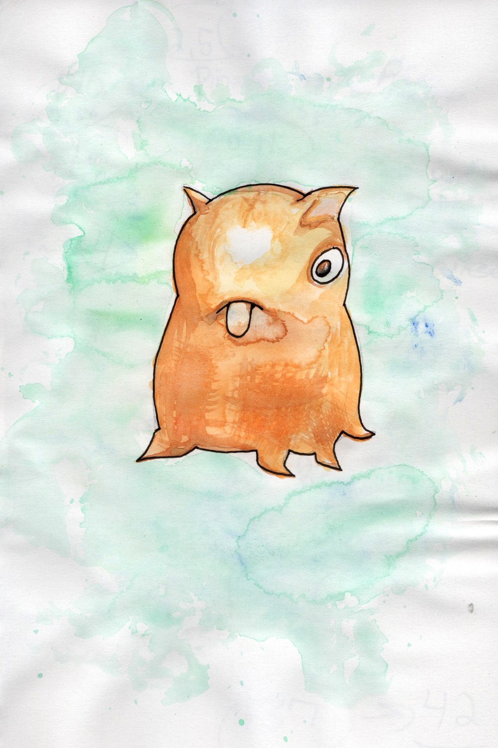 Dumbo Octopus- Watercolor
