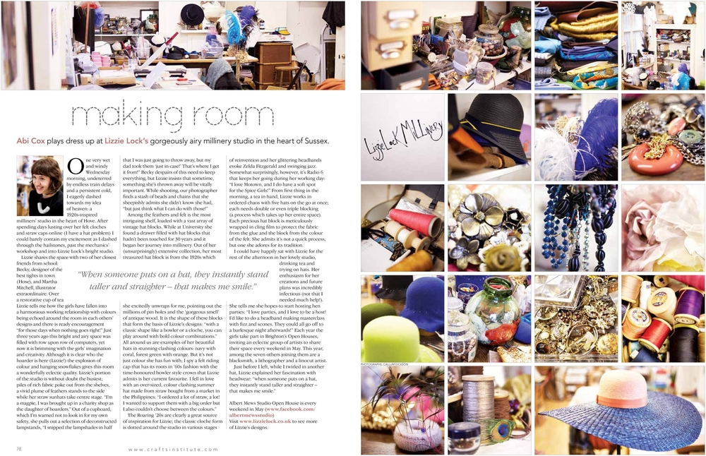 Making Magazine  The Making Room feature - 27/03/2014