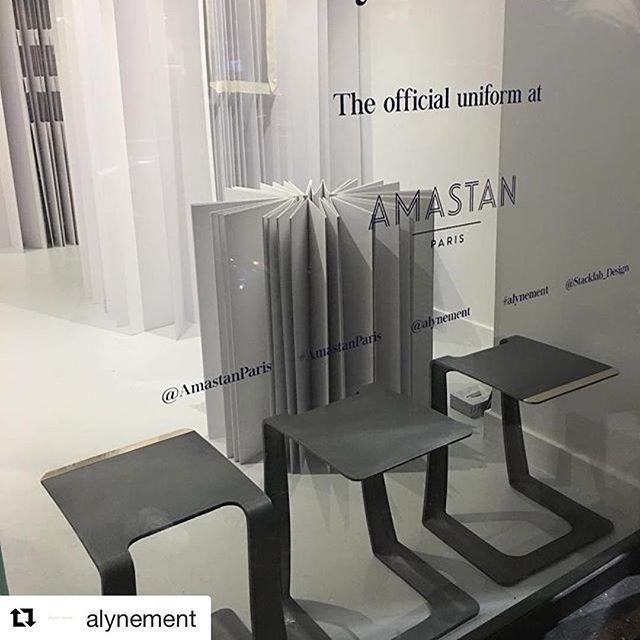 The Garrison makes its French debut #canadiandesign #artanddesign 🇫🇷 .......................a demain ⚪️⬜️ #alynement #amastanparis #amastanpopin #stacklabdesign