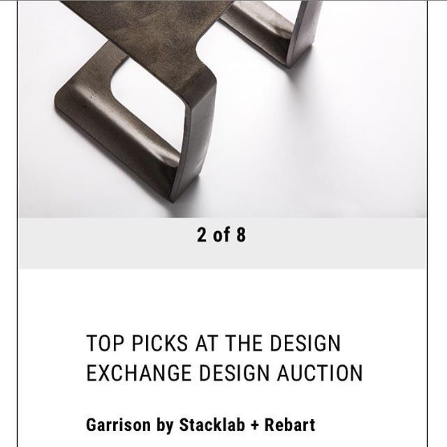 Top pick at @designexchange auction. Link in bio ⬆️ #collectorsitem #functionalart #ownapieceofhistory #contemporarydesign
