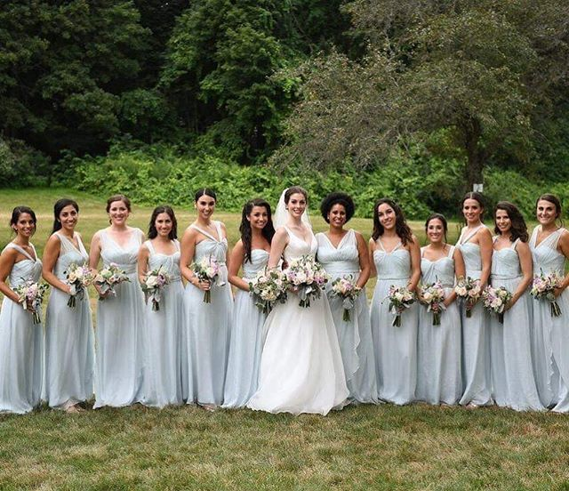Got a big bridal party? We've got you covered!  Book your wedding today at bookings@entyremakeovers.com  www.entyremakeovers.com  #bridalmakeup #bridalhair #bridalupdo #weddinghair #weddingmakeup #weddingupdo #lashes #entyrelashes #minklashes #mua #muaboston #hairandmakeupboston #glamsquad