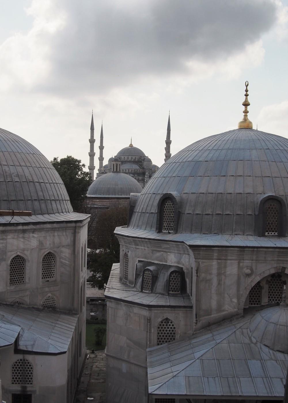 The Blue Mosque from inside Haga Sofia