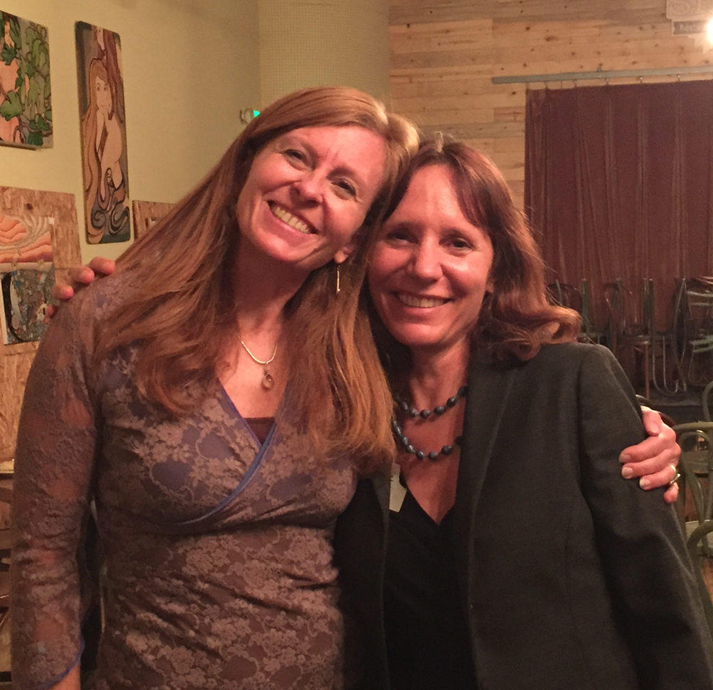 Sally Eckert  (BAM) with  Charlotte LaSasso  (Boulder County Arts Alliance)