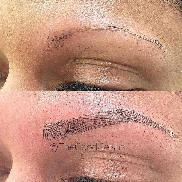 Over tweezed? No problem! 🤗 . . . WWW.GOODGEISHA.COM . . . #thegoodgeisha #annavictorias #perfectbrows #tattoofixer #microblading #micropigmentation #the6ix #eyebrows #brows #browsonfleek #tattoo #facetattoo #3Dbrows #mac #makeup  #sephora #wakeupandmakeup #torontostyle #archaddicts #eyebrowsonpoint #makeupbloggers #HDbrows #womenshow