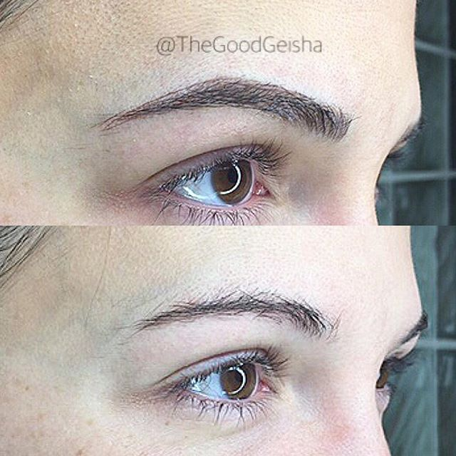 What a difference!!! 😍  By our talented @lauryn.thegoodgeisha👌🏼 . . . WWW.GOODGEISHA.COM . . . #thegoodgeisha #annavictorias #perfectbrows #tattoofixer #microblading #micropigmentation #the6ix #eyebrows #brows #browsonfleek #tattoo #facetattoo #3Dbrows #mac #makeup  #sephora #wakeupandmakeup #torontostyle #archaddicts #eyebrowsonpoint #makeupbloggers #HDbrows #womenshow