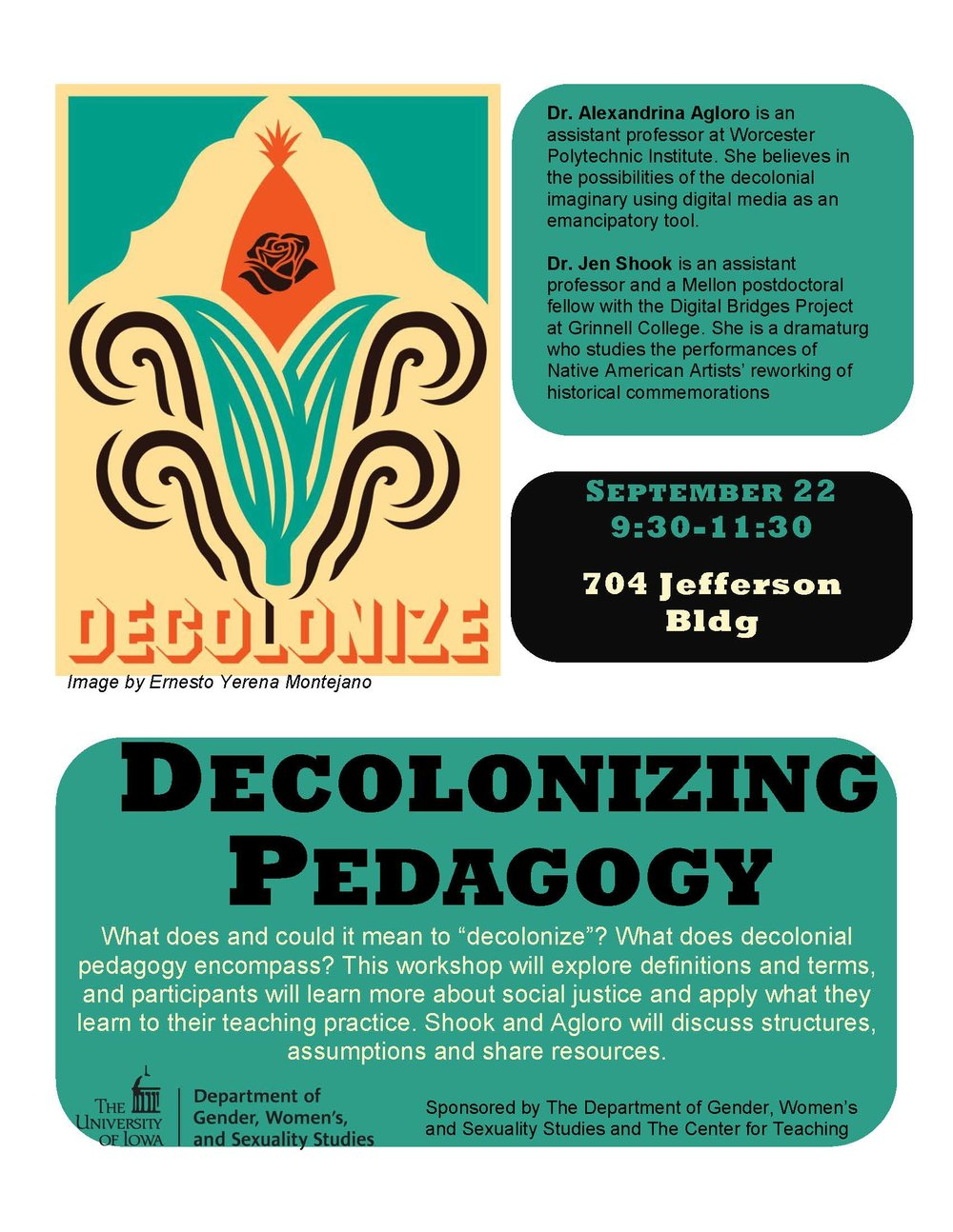 Resources from presentations: - Decolonizing Pedagogy (with Alexandrina Agloro): click here Sound Pedagogy (for Digital Storytelling): click here