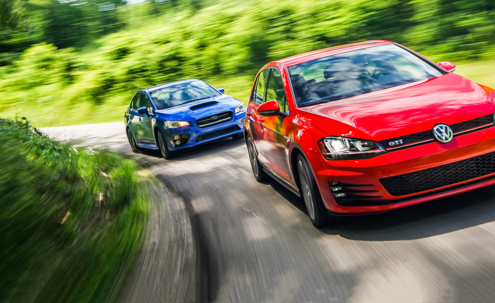Source: caranddriver.com (2015 Subaru WRX vs. 2015 Volkswagen GTI)