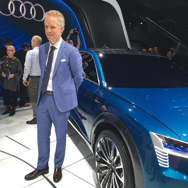 #blue is the new black. #audi #q8 #etron #quatrro. Coming out #2018 #LAAutoShow