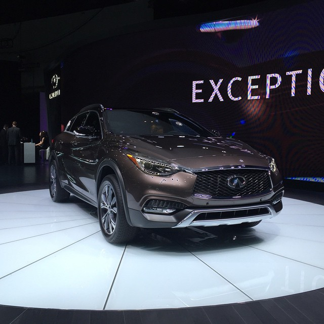 It may have #Mercedes bones, but the #Infiniti design DNA is certainly there. #LAAutoShow #QX30