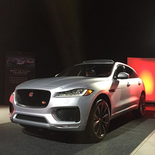 Hard at work checking out the brilliant new #Jaguar #F-Pace. #TheAudition