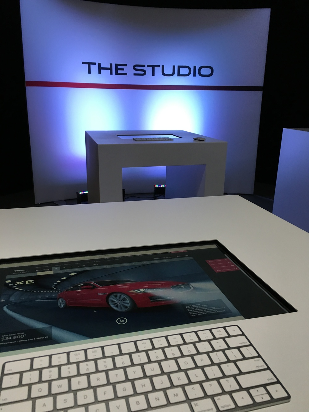 Customize your Jaguar on-site.