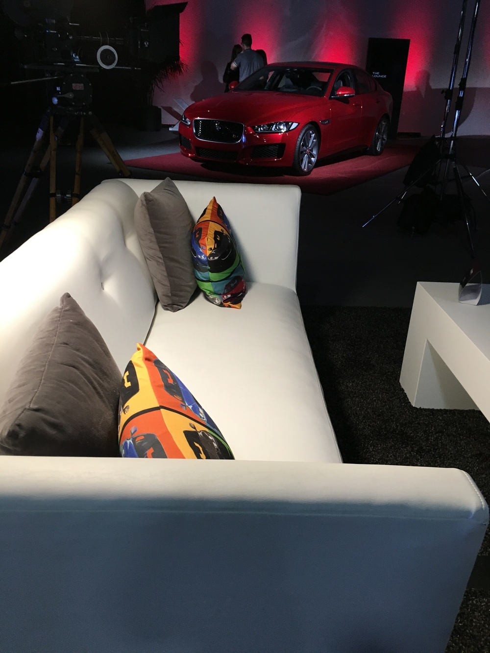 Chillax at the lounge with the new Jaguar XE.