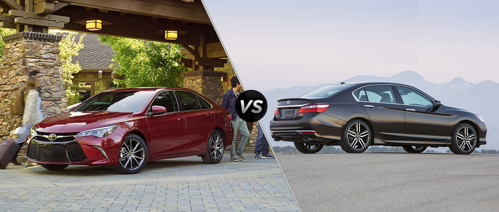 2016 Toyota Camry XSE and 2016 Honda Accord Touring (source: DealerFire)