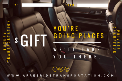 Luxury car service gift certificate afreeride llc luxury car service gift certificate yelopaper Image collections