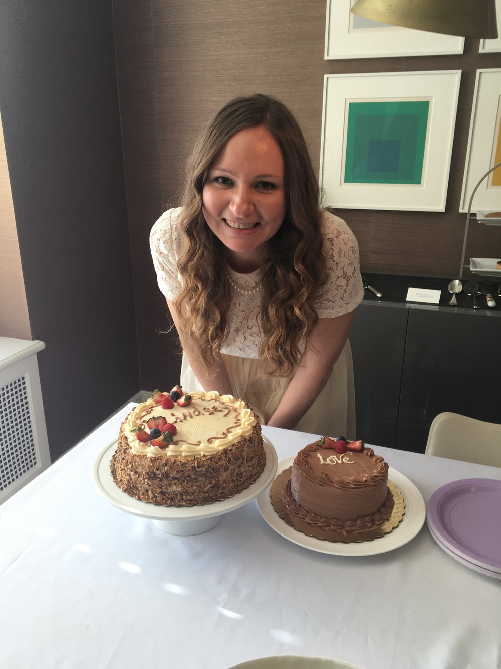 Lindsey, the bride and Gluten Free Cake from NoGlu Gluten Free NYC Bakery
