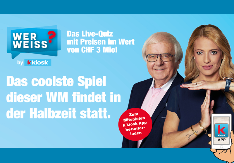 Wer Weiss ? Kampagne mit Christa Rigozzi & Gilbert Gress
