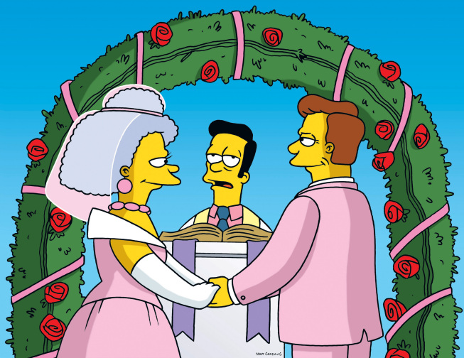 What a (sham) wedding! Photo: simpsons.wikia.com