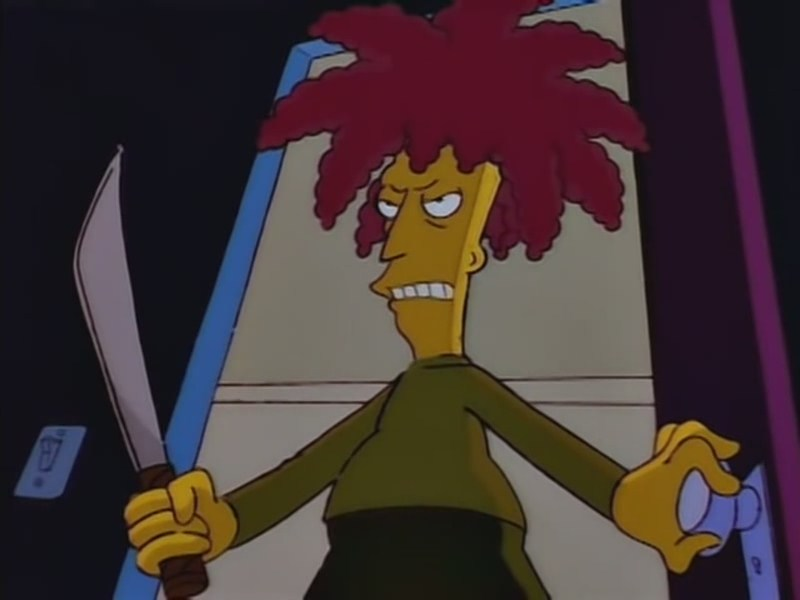 After he got past the rakes. Photo: simpsons.wikia.com