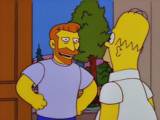 You ever see a man say goodbye to a shoe? Photo: simpsons.wikia.com