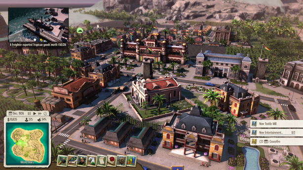 That's right, apparently citizens are able to walk so everything does not have to be on a road PHOTO: http://www.engadget.com/2014/05/23/tropico-5-review-new-presidente-same-as-the-old-presidente/
