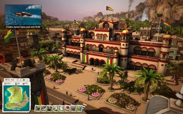 Of course there is a great Presidential Palace for you...  PHOTO: http://www.pcgamer.com/tropico-5-review/
