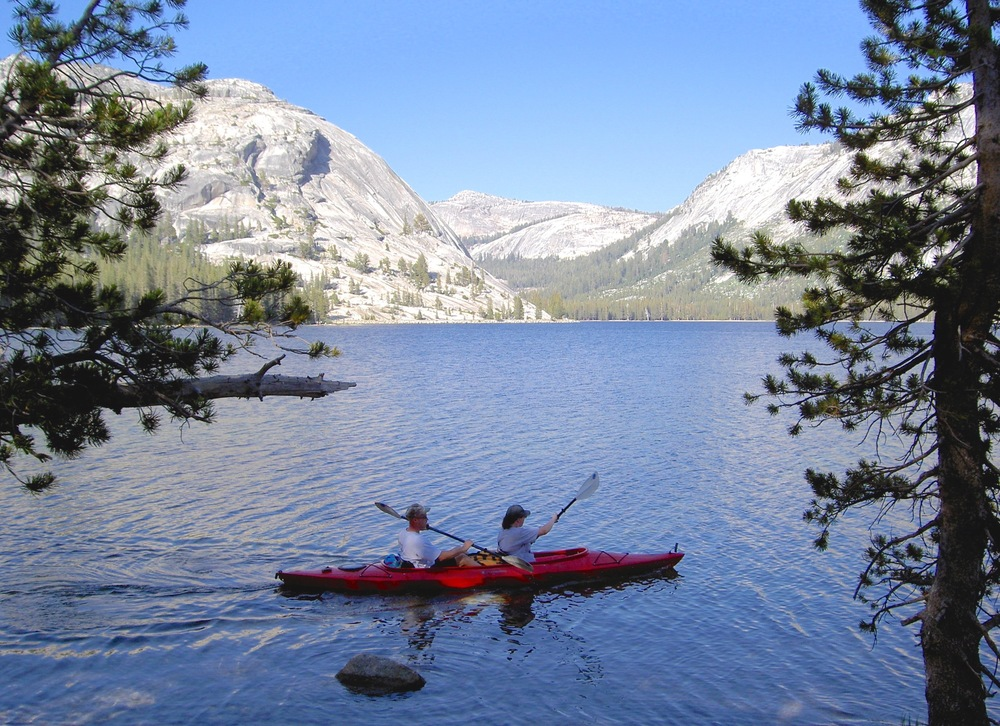 A good day to be gliding on Tenaya Lake's cooling waters, 8,149' above sea level.