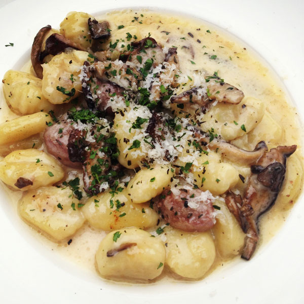 Hodge's wild mushroom and ohio city pasta gnocchi