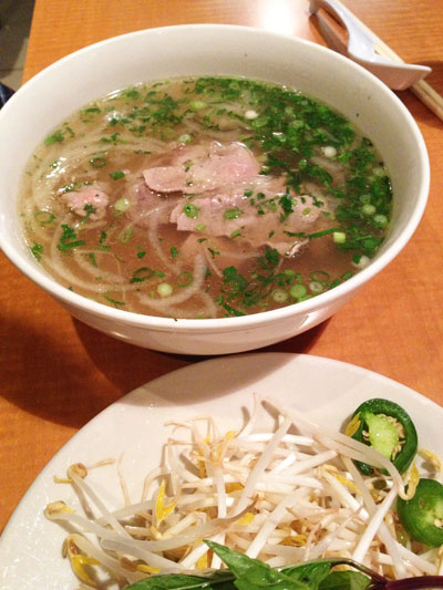 Phở Tái better known as P2 or Fresh noodle w/Eye round steak