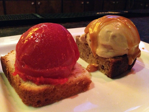 Market Garden Brewery - Lemon Pound Cake with Raspberry Sorbet | Banana Bread with Brown Butter Ice Cream with Carmel Sauce