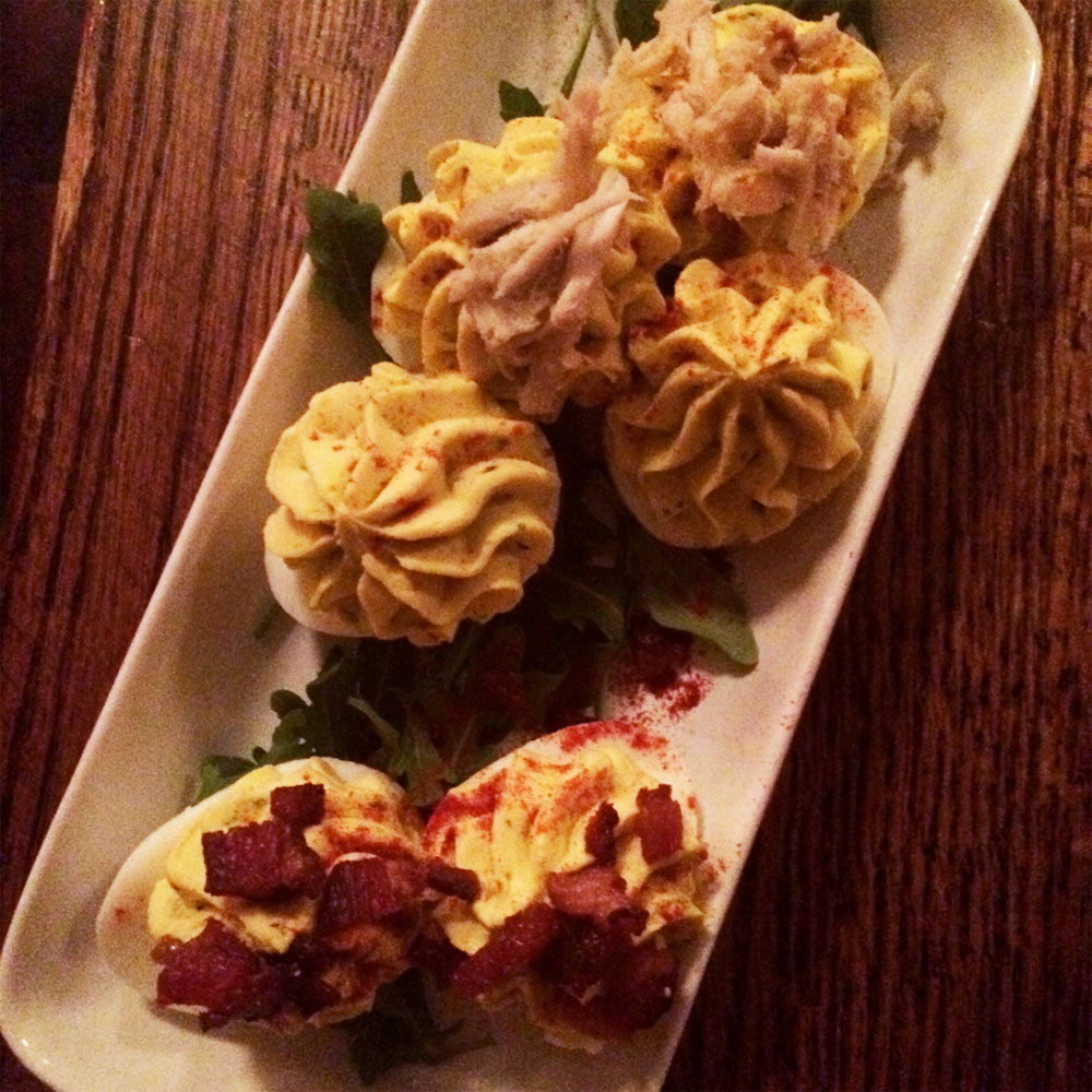 Deviled-Egg-Sampler-goat-cheese,-crab,-pork-belly