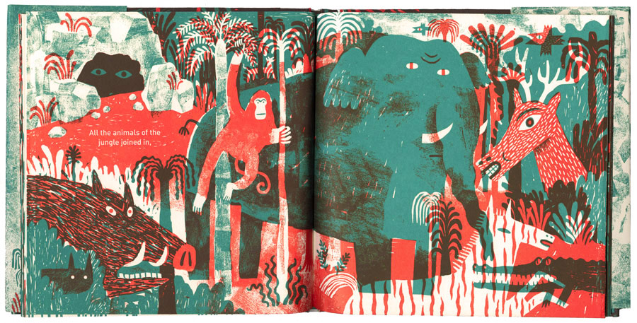 Interior page of The Tiger Who Would Be King. Copyright © JooHee Yoon. Published 2015.
