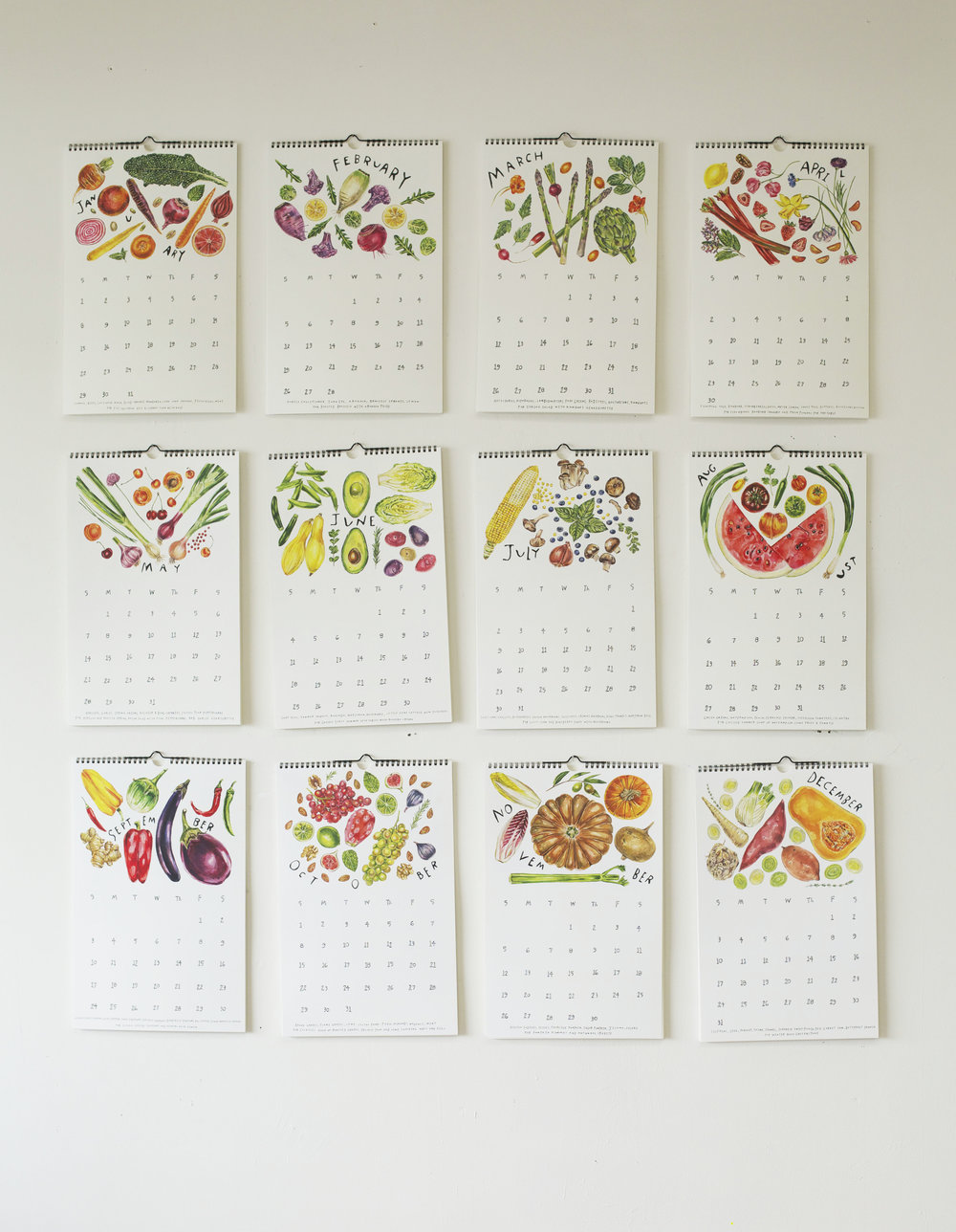 Maria Shoettler's 2017 Produce Calendar