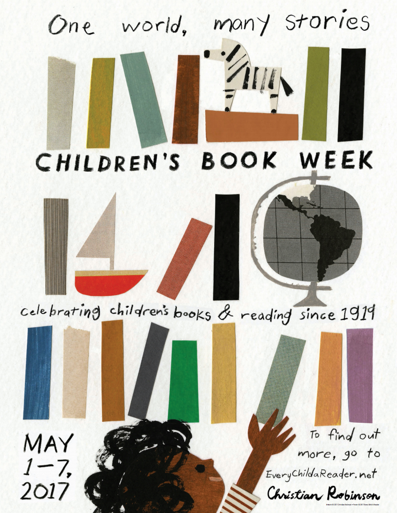 Children's Book Week 2017 poster. Art by Christian Robinson