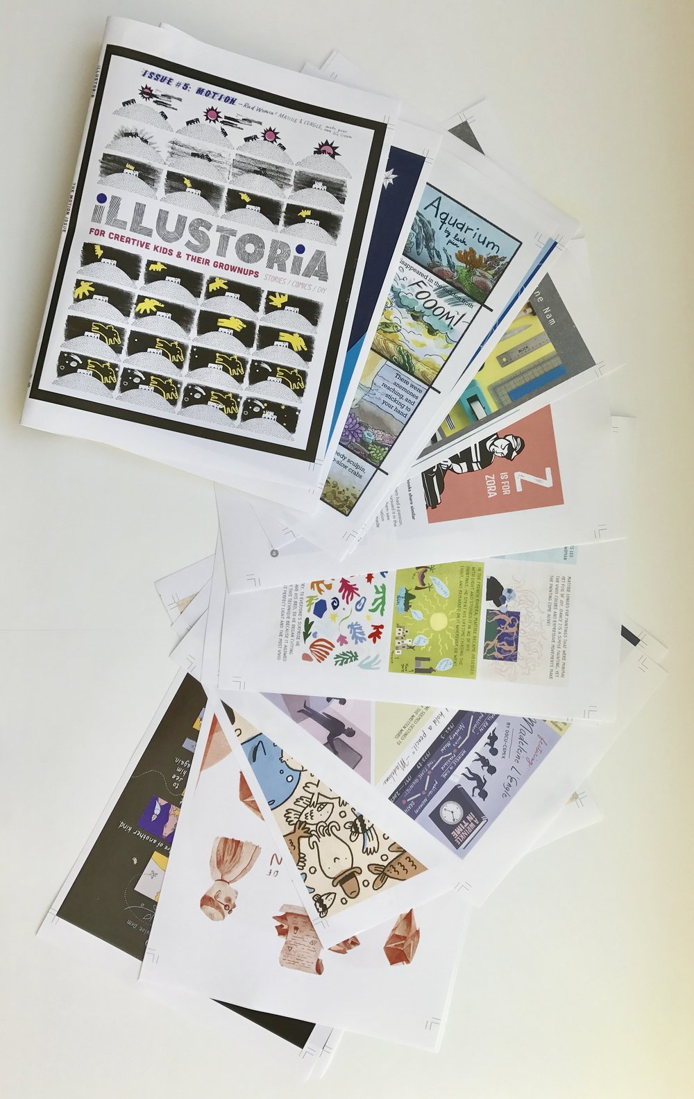 Color proofs of  The Motion Issue