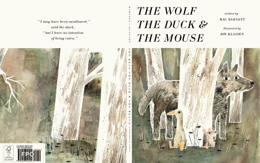 The Wolf, the Duck & The Mouse  by Mac Barnett and illustrated by Jon Klassen