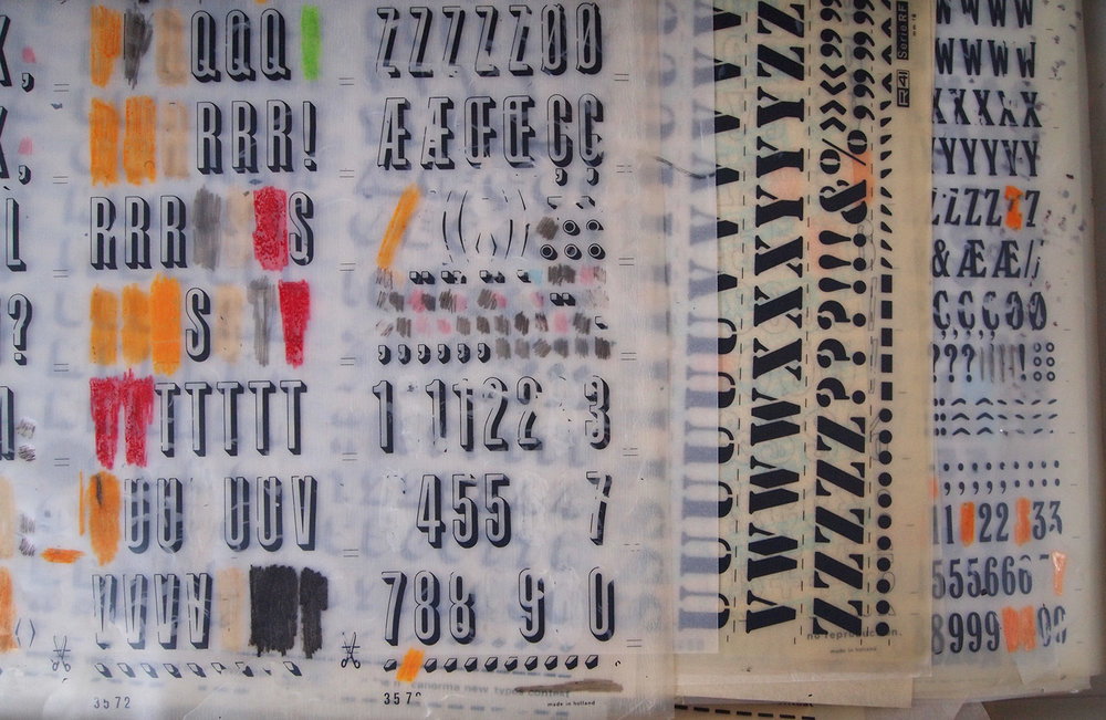 Letraset pages are a great (and vintage!) lettering tool for any graphic design project.
