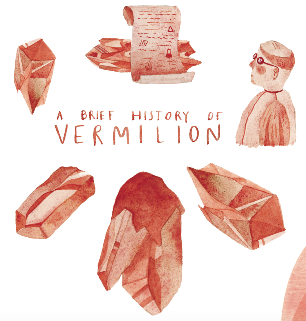 "Illustration excerpt from ""A Brief History of Vermillion"" written by Alexis Joseph & illustrated by Lindsay Stripling for ILLUSTORIA  Issue 5: Motion"