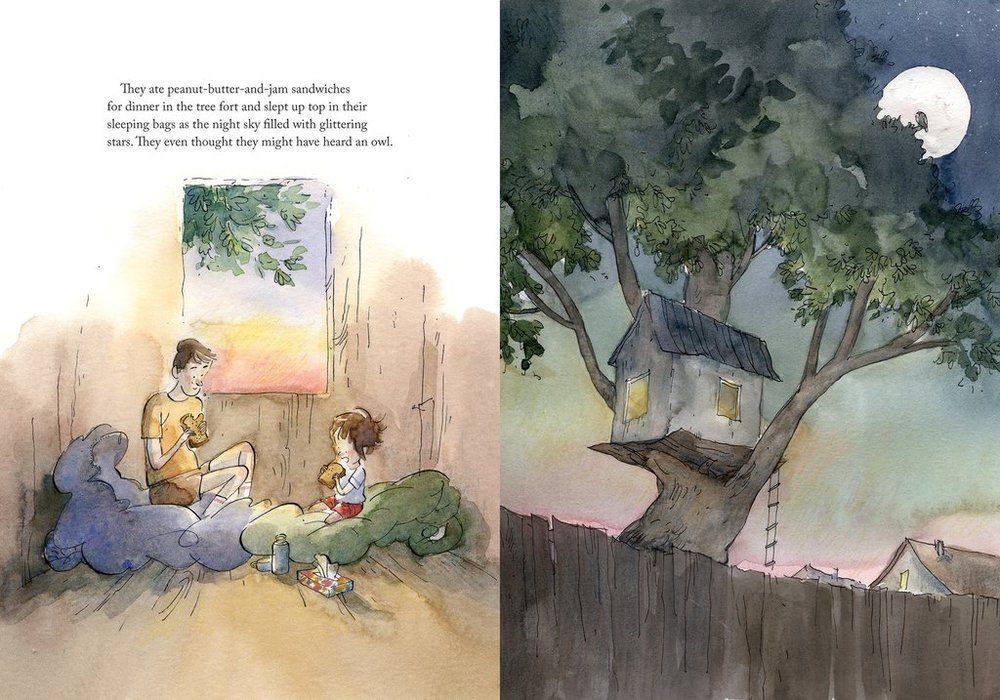 The Better Tree Fort  by Jessica Scott Kerrin and illustrated by Qin Leng