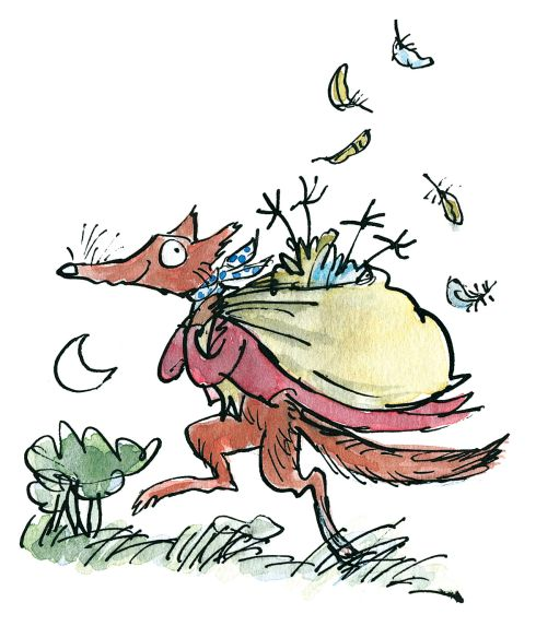 art by Quentin Blake from Roald Dahl's  Fantastic Mr. Fox