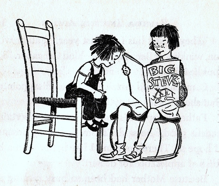 art by Louis Darling from Beverly Cleary's  Ramona