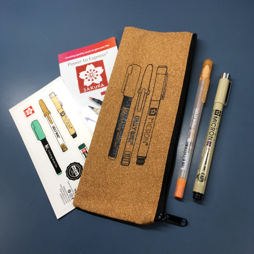 Free pens + pouch set by Sakura of America with every Illustoria magazine purchase on 9/9 at Morningtide!