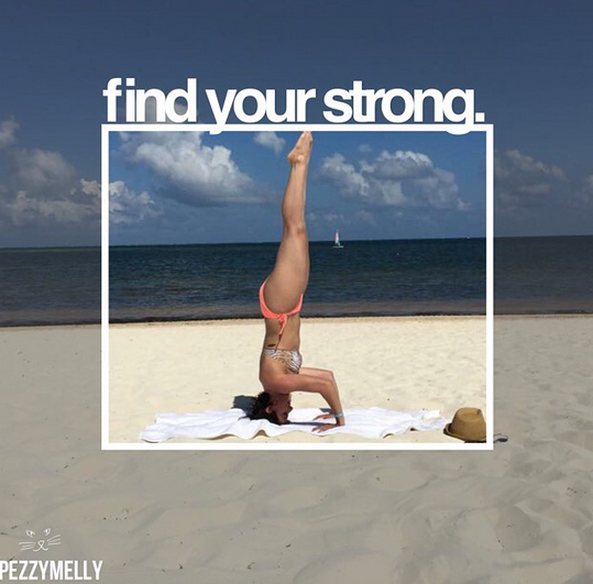 Headstands on the beach.