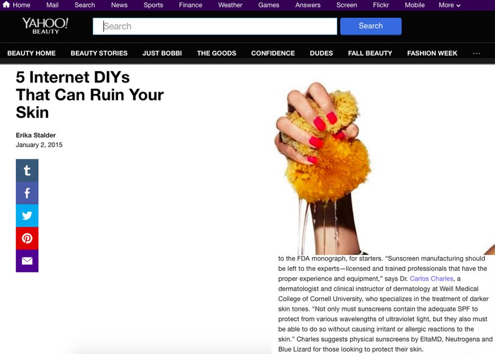 Yahoo Beauty | January 2015