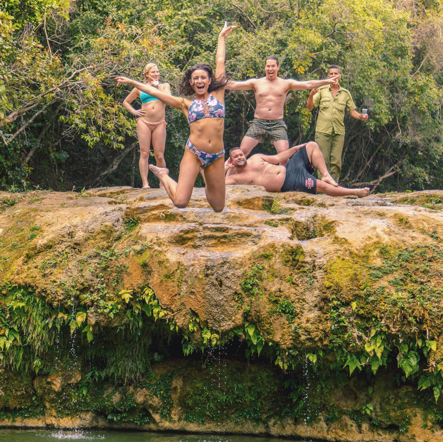 pure bliss with my silly friends (and a local)