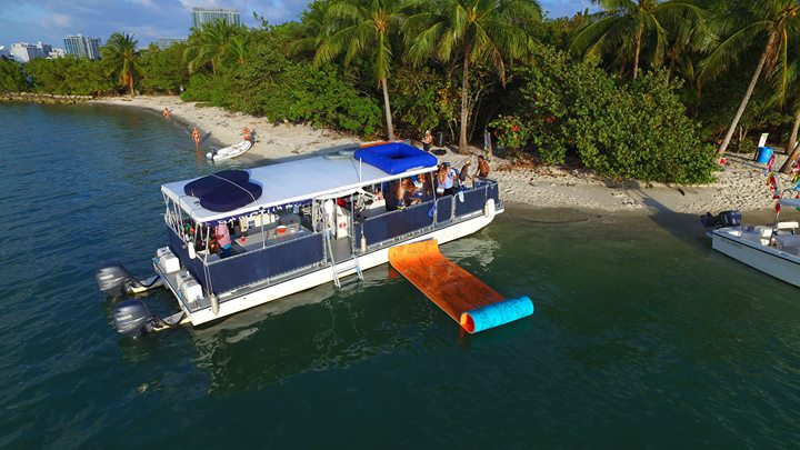 Our party boat day to a private island