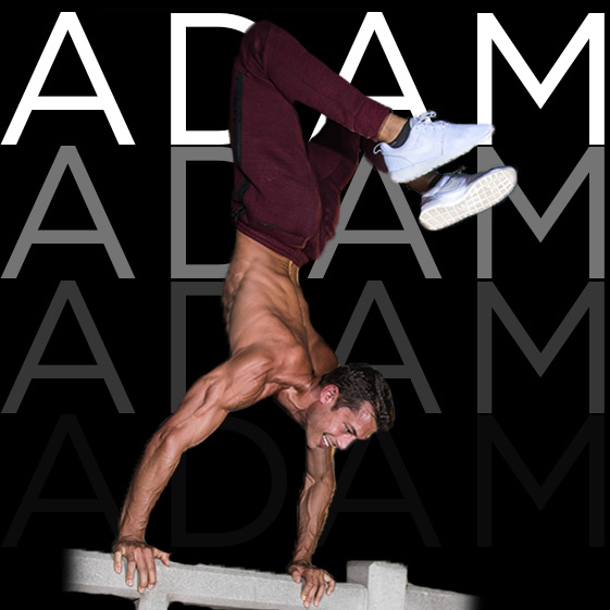 ADAM FRATER | Body Works   Adam is a big boss in body weight, hand stands and making people smile…. And umm he's got a six pack dude!
