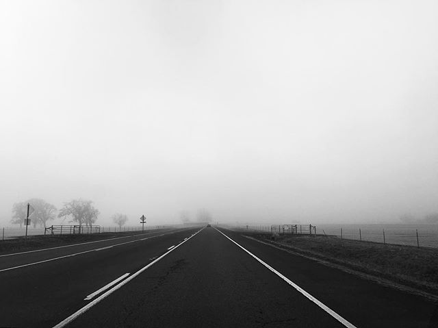 #oregon #fog #road #bnw #bnwphotography #bnw_captures