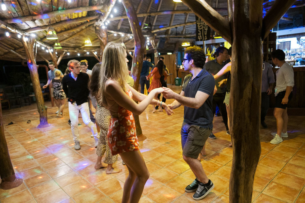 This is Gab getting his dance on during our Salsa Lessons on night #3.